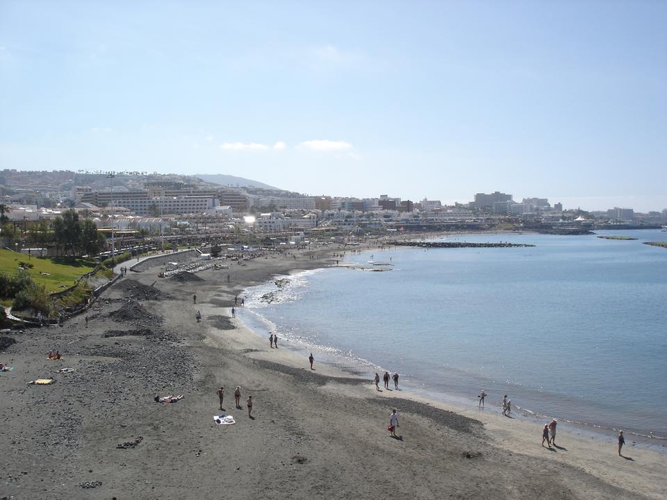 Playa de la costa de Adeje, Tenerife